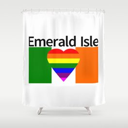 Ireland Gay Wedding Shower Curtain