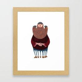King Beardy Framed Art Print