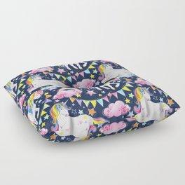 Unicorns, Rainbows & Stars Floor Pillow