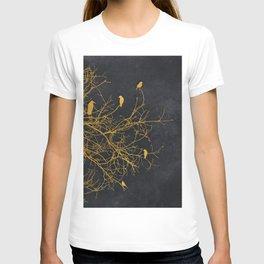 gold and black floral #goldblack #floral T-shirt
