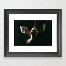 Trembling hands Framed Art Print
