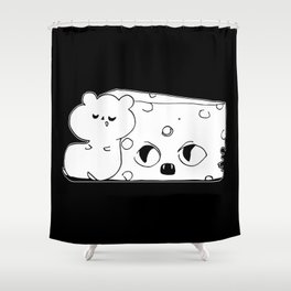 ▴ rat ▴ Shower Curtain