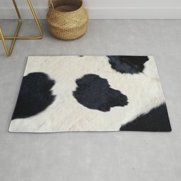 Black and White Cowhide Photography Rug