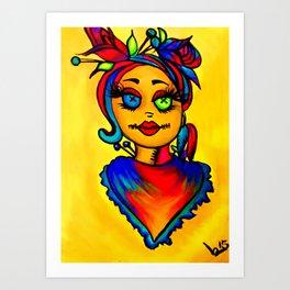Voodoo diva art Art Print