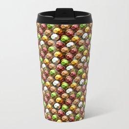 Metallic Beads Pattern Metal Travel Mug