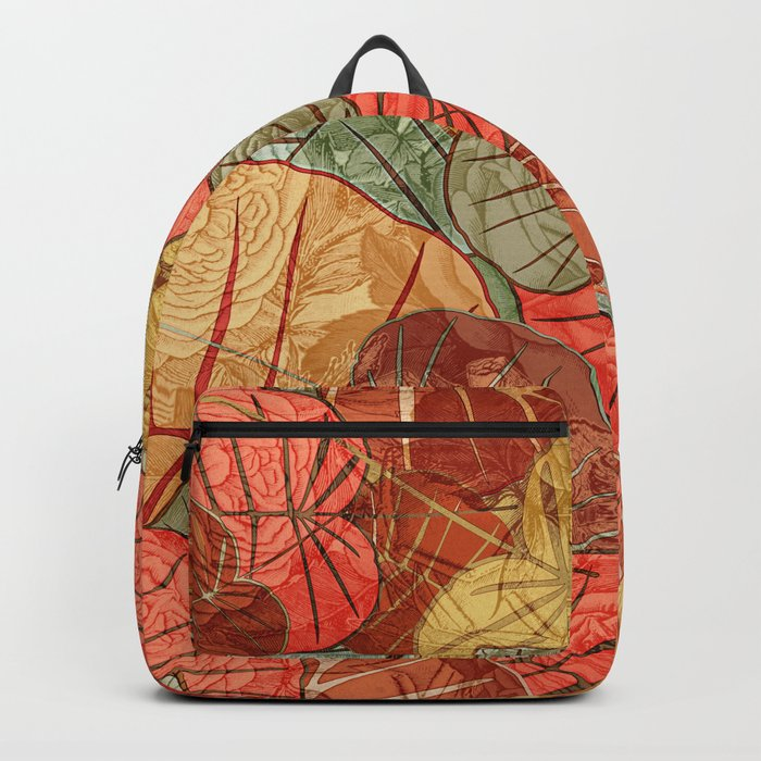 Leaves in Rosy Background 4 Backpack
