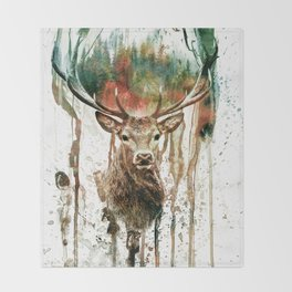 DEER IV Throw Blanket