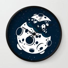 Broken Moon Wall Clock