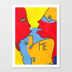 me to you / Color Canvas Print