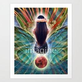 """Imagine"" by Visionary Artist Carolyn Quan Art Print"
