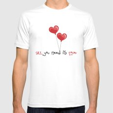 all you need is love Mens Fitted Tee MEDIUM White