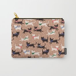 Cats in Colorful Scarves Carry-All Pouch
