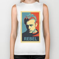 rebel Biker Tanks featuring Rebel by Sparks68