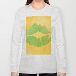dp048-2 Watercolor kiss Long Sleeve T-shirt