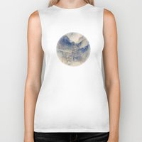 mountains Biker Tanks featuring Tulle Mountains by Klara Acel