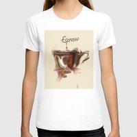 coffe T-shirts featuring coffe by tatiana-teni