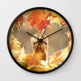 squirrel with love Wall Clock