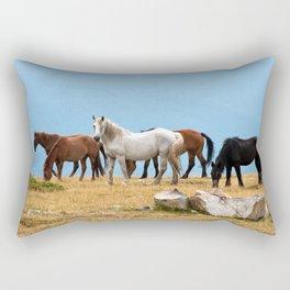 Mountain Horses Rectangular Pillow