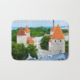 Kiek in de Kok Towers - Tellinn Estonia Bath Mat