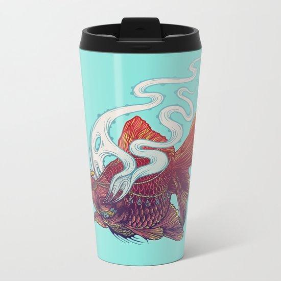 Ocean Jewel Metal Travel Mug