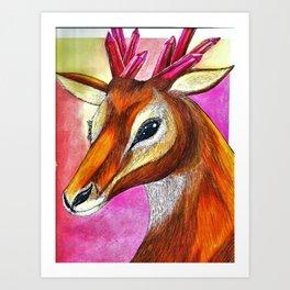 Ruby Antelope Art Print
