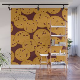 Chocolate chip cookie Wall Mural