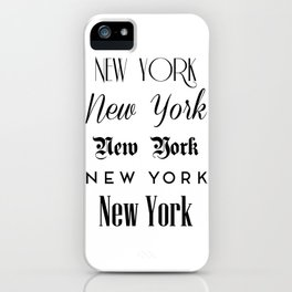 New York City Quote Sign, Digital Download, Calligraphy Text Art, World City Typography Print iPhone Case