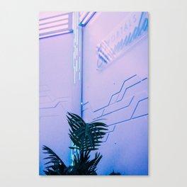 Neon Palm Canvas Print