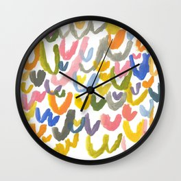 Abstract Letterforms 1 Wall Clock