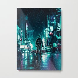 Another Rainy Night ( The Continuous Tale Of The Lost Astronauta) Metal Print