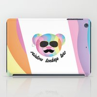 bondage iPad Cases featuring Punk Rainbow Bondage Bear 2.0 by YOSH FRIDAY