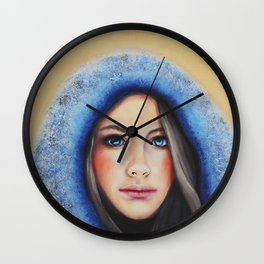 Winter Mädchen 2 Wall Clock