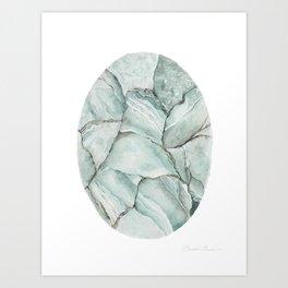Aquamarine Stone Art Print