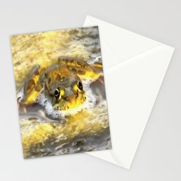 Frog In Deep Water Stationery Cards