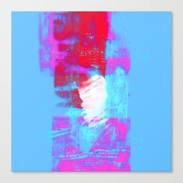 abstract blue pink Canvas Print