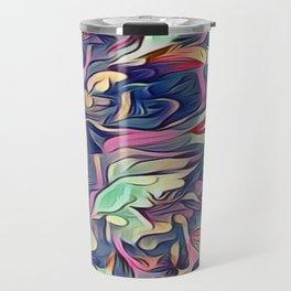 Midnight Floral Abstract Travel Mug