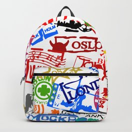 World City Passport Stamps Backpack