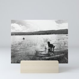 big bear lake and rudy Mini Art Print