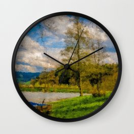 Boat on Water Wall Clock