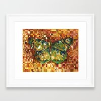 moth Framed Art Prints featuring Moth by S.G. DeCarlo