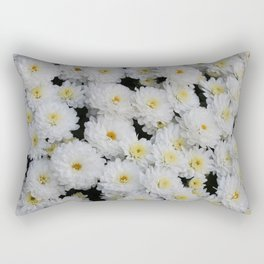 White Mums Rectangular Pillow