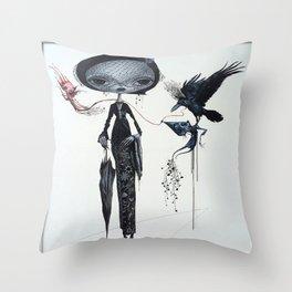 gothic kebaya Throw Pillow