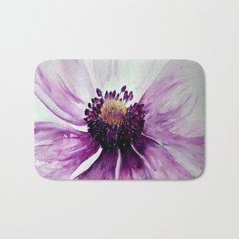 Sweet Anemone of Purple watercolor by CheyAnne Sexton Bath Mat