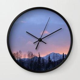 Chugach Mts Serenity Sunrise - II Wall Clock
