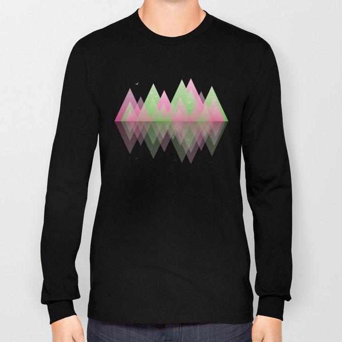 Geometric Lake Mountain I - Spring Long Sleeve T-shirt