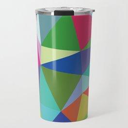 Abstract triangle mosaic background Travel Mug