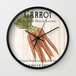Organic Seeds 2 Wall Clock