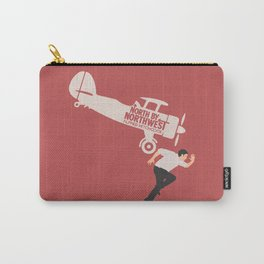 North by northwest, Alfred Hitchcock minimal movie poster, thriller, Cary Grant, Eva Marie Saint Carry-All Pouch