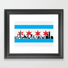 New Chicago Flag Framed Art Print