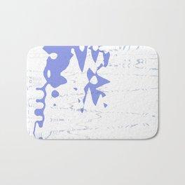 Nice blue ocean splash on wavy white background Bath Mat
